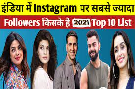 2021 में इंस्टाग्राम पर भारत सबसे ज्यादा फॉलोअर्स किसके हैं? India most followers on Instagram