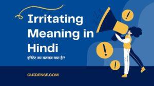 Irritating Meaning in Hindi – इरिटेट का मतलब क्या है?