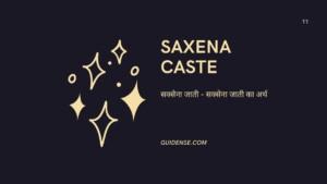 सक्सेना(Saxena Caste) क्या है? सक्सेना समाज का इतिहास